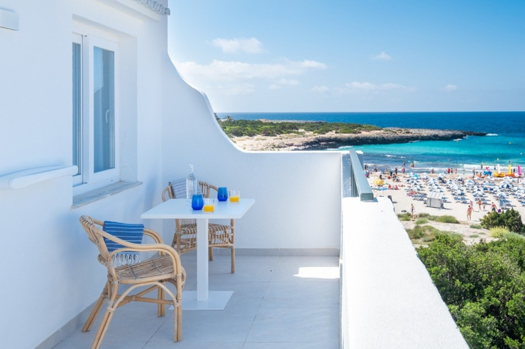 Premium duplex with side sea view carema beach menorca